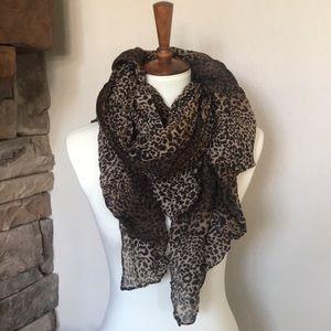 Accessories - Leopard Cheetah Animal Print Scarf Shawl Sarong